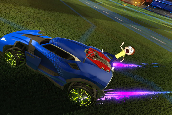 rocket league second anniversary rick and morty