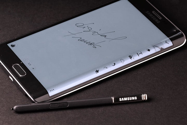 Samsung Galaxy Note Edge side top