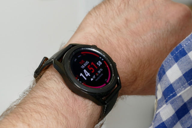 samsung galaxy watch 3 review side wrist