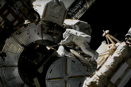 ISS astronauts checked for toxic ammonia contamination during spacewalk