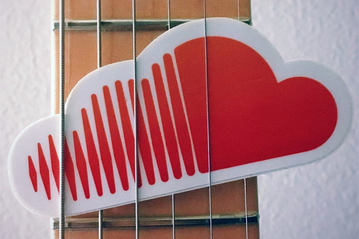 soundcloud new suggested tracks feature logo guitar