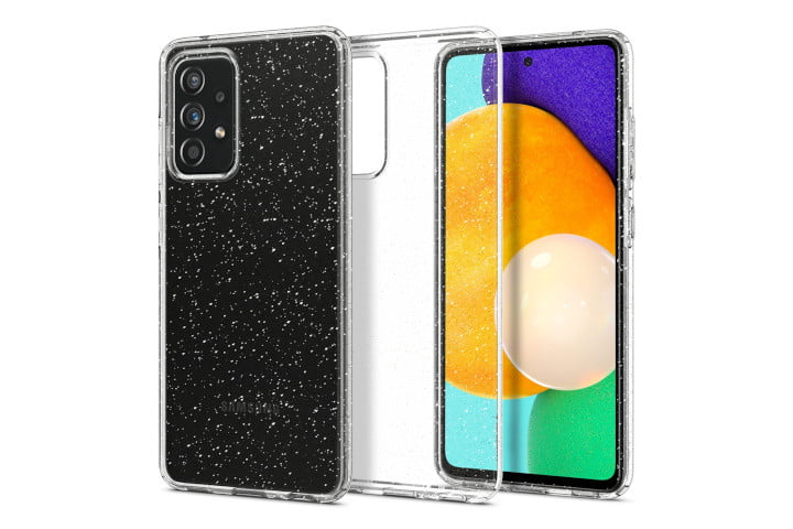 The front and back of the Spigen Liquid Crystal Glitter.