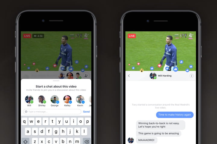 facebook live private chats shared streams start a chat  thread copy