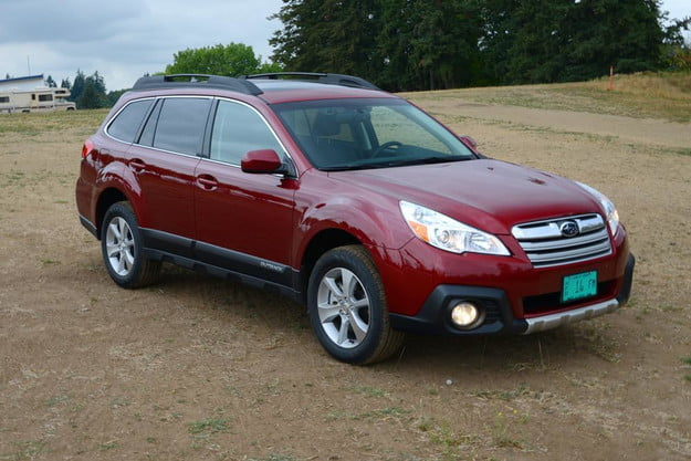 2013 subaru outback review front right angle