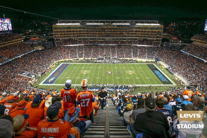 super bowl 50 record streaming audience levis stadium