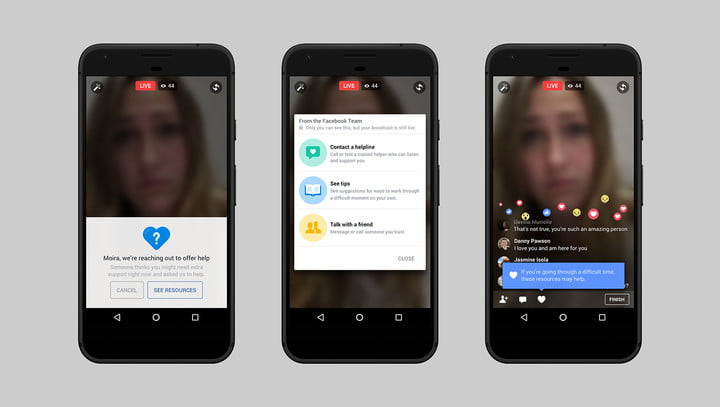 facebook ai suicide detection support for broadcaster screenshot copy