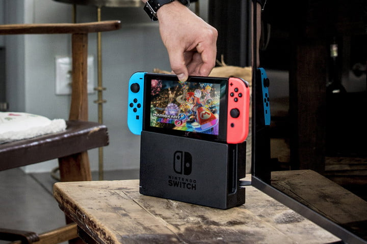 nintendo switch save payment information dock
