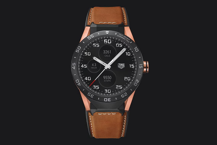 tag heuer carrera connected rose gold watch news