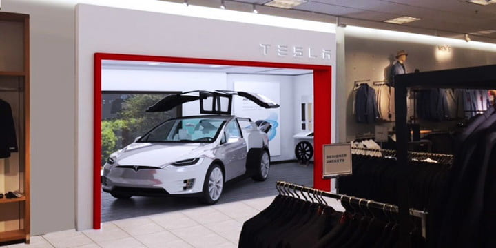 tesla nordstrom showroom plans to sell its electric cars at