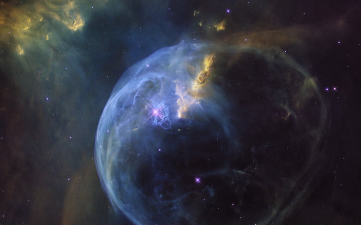 hubble our place in soace the bubble nebula