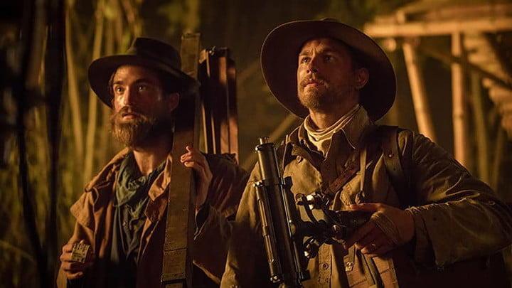 Robert Pattinson and Charlie Hunnam in The Lost City of Z