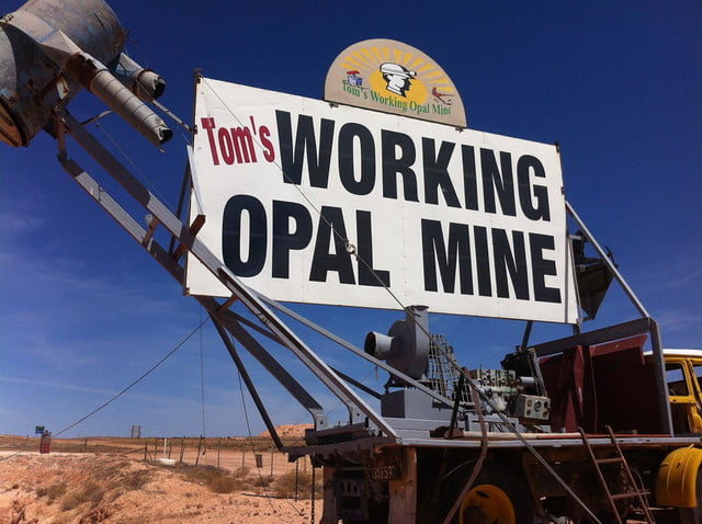 coober pedys residents live in underground dugouts tom s working opal mine