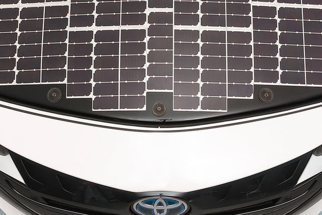 toyota has covered a prius in solar cells to add 27 miles its range 1
