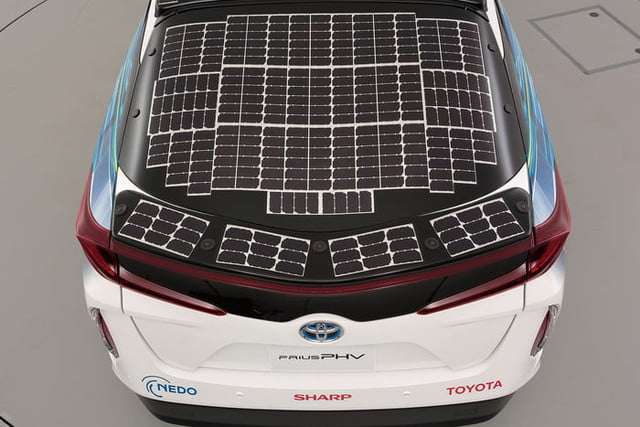toyota has covered a prius in solar cells to add 27 miles its range 10