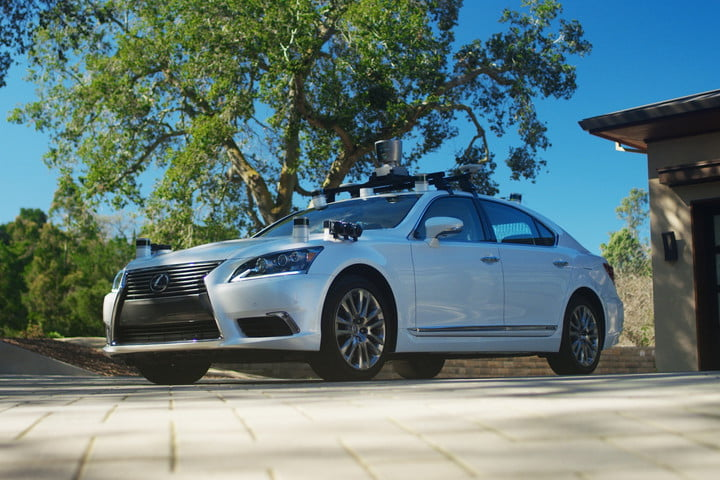 Toyota Lexus LS self-driving car