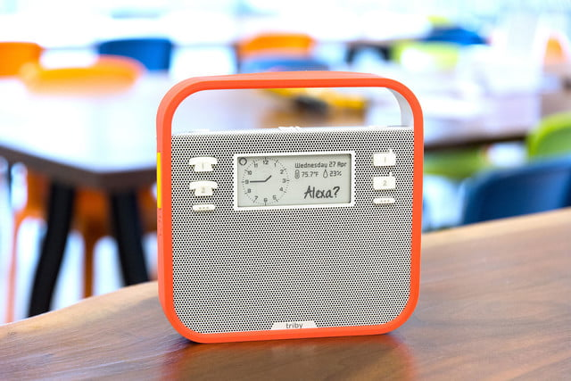 triby is the first non amazon alexa device radio full1