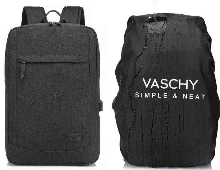 Vaschy 17-inch Laptop Backpack with USB Charging Port