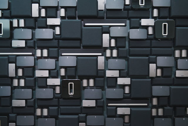 sonos retail store nyc sound wall of  back