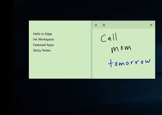 windows 10 anniversary update 2016 new features ink note