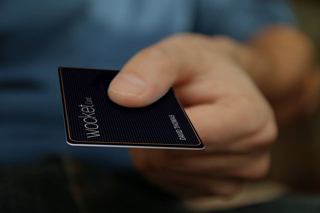 nxt ids wocket replaces your wallet with a card wocketcard hand mockup