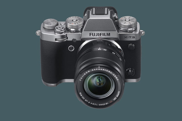 fujifilm unveils x t3 mirrorless camera with new sensor and processor silver highangle xf18 55mm