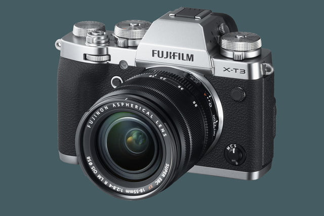fujifilm unveils x t3 mirrorless camera with new sensor and processor silver leftobl xf18 55mm