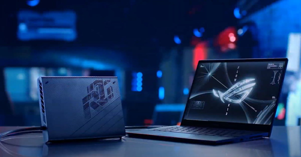 Asus pairs the portable ROG Flow X13 2-in-1 with a miniature XG Mobile eGPU
