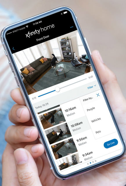 spy on your pets with comcast xfinity camera ai powered pet filter mobile zoom