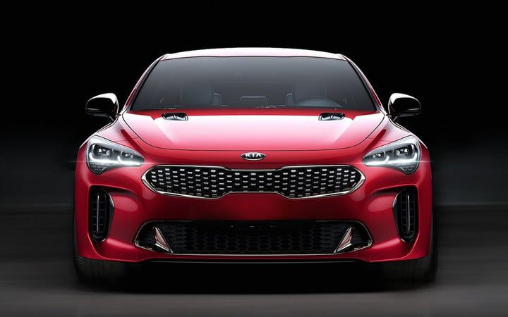 kia stringer 2018 sedan stinger head