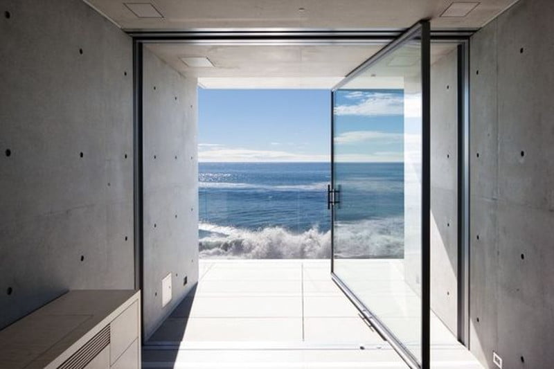 A View From Kanye West's Oceanside Malibu Home.