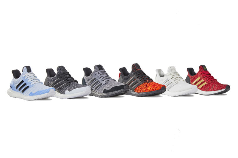 adidas game of thrones ultraboost shoes lineup white bkgd