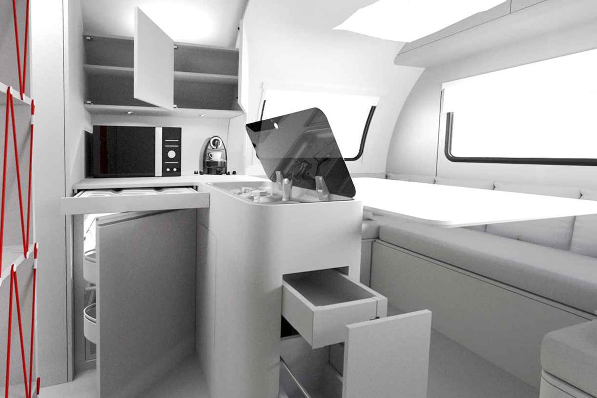 beauer 3x expandable camping trailer interior 4