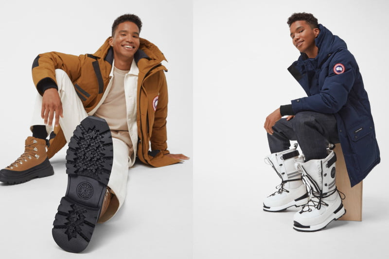 Canada's Goose's new boots include the Journey hiker boot (left) and the high-top Snow Mantra boot (right).