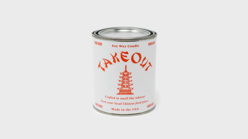 chinese takeout candle