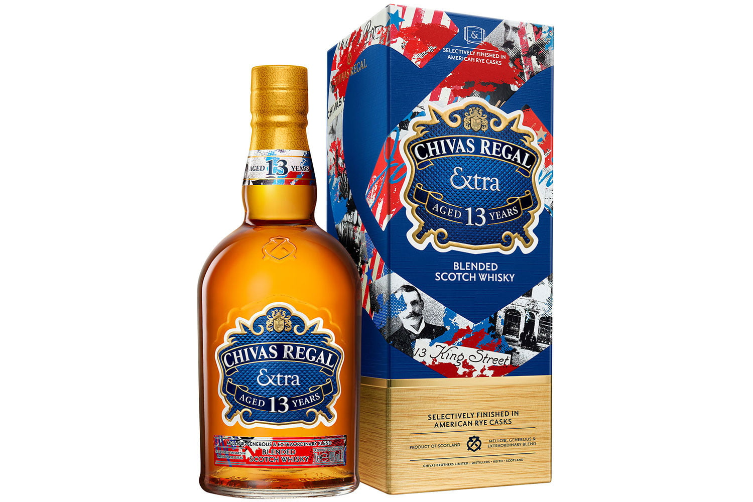 chivas extra 13 collection rye packshot bottle and box 70cl