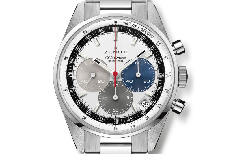 The Zenith Chronomaster Original featuring its iconic tri-colored dial.