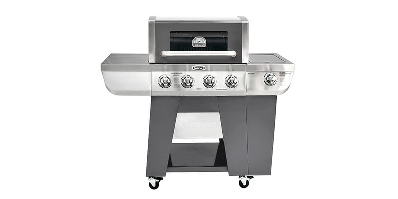 Cuisinart Deluxe Four-Burner Propane Gas Grill 2 on a white background.
