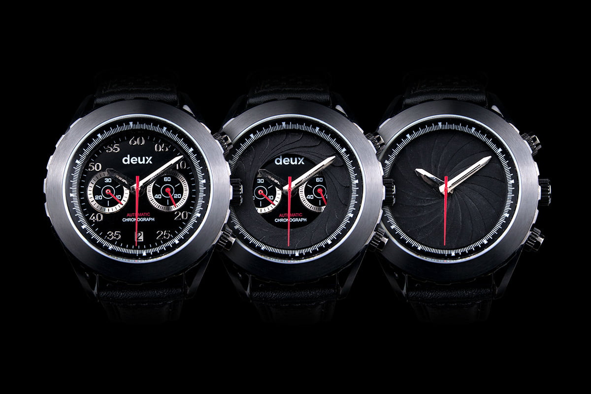 deux watches dual faced chronograph watch 2