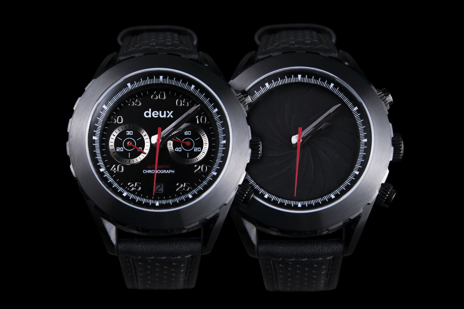 deux watches dual faced chronograph watch 3