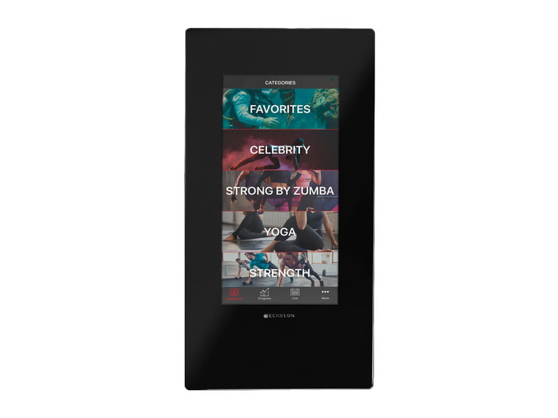 Echelon Reflect 50-inch Smart Mirror with touchscreen on white background.