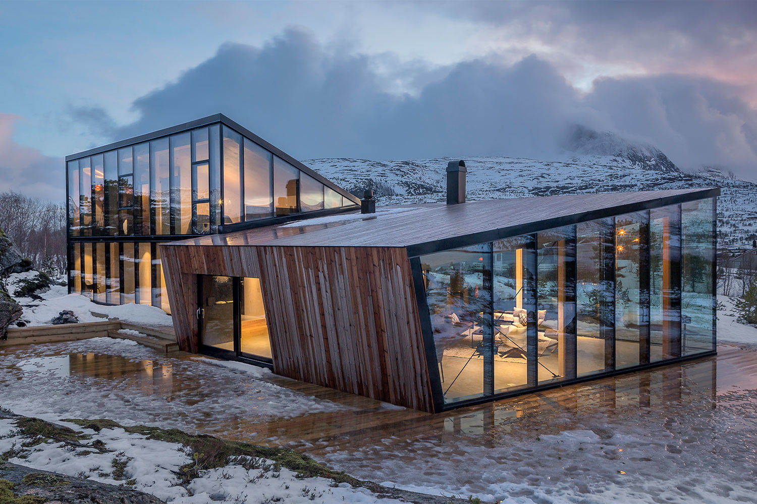efjord cabin glass house norway snorre stinessen architecture 3