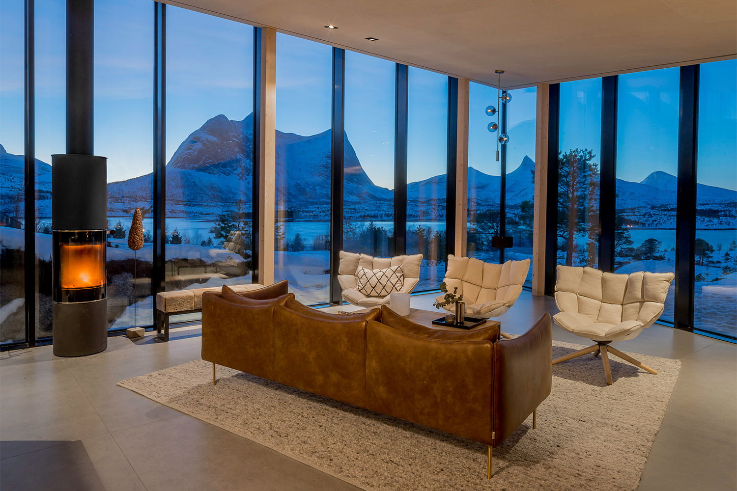 efjord cabin glass house norway snorre stinessen architecture