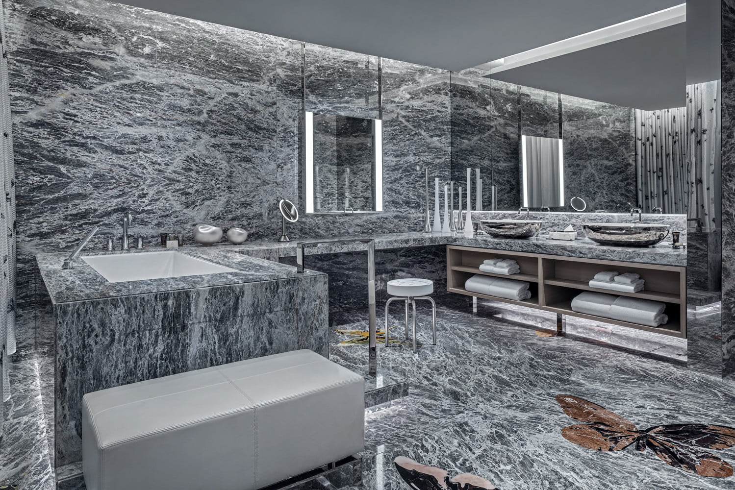 this 100000 a night vegas hotel suite is the worlds most expensive empathy designed by damien hirst bathroom  1