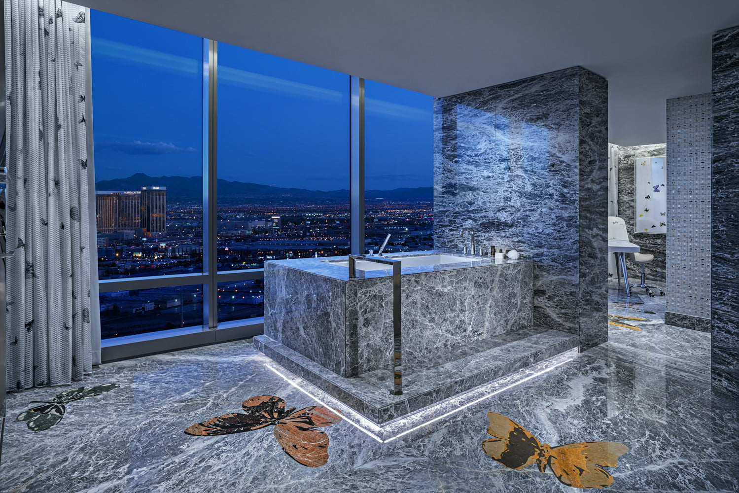this 100000 a night vegas hotel suite is the worlds most expensive empathy designed by damien hirst bathroom