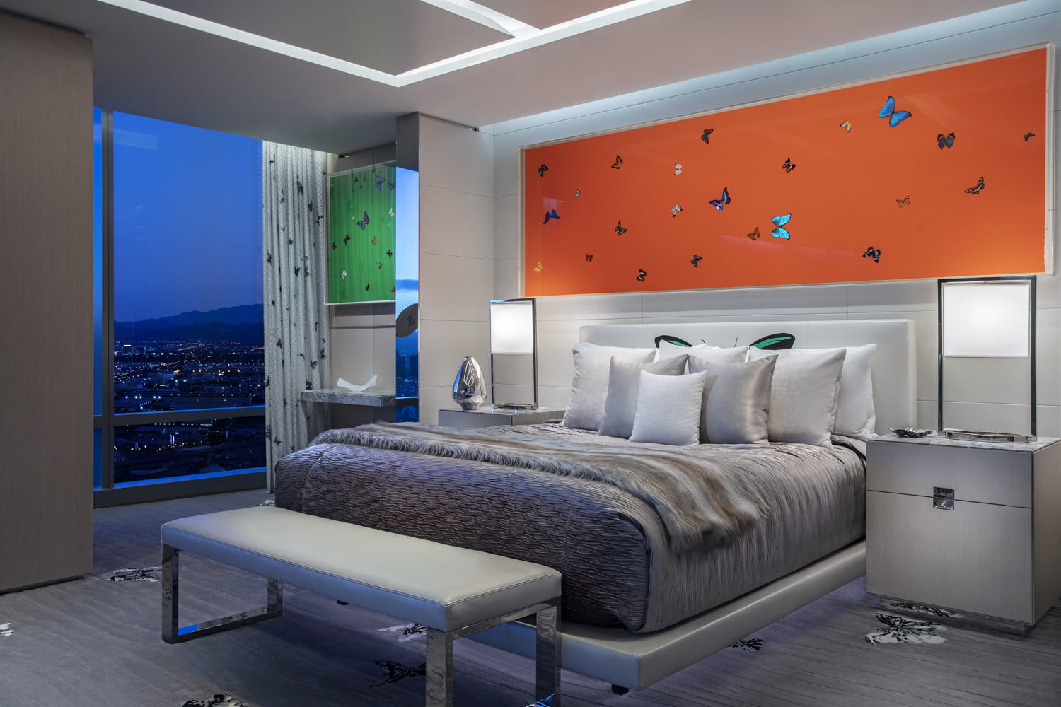 this 100000 a night vegas hotel suite is the worlds most expensive empathy designed by damien hirst bedroom