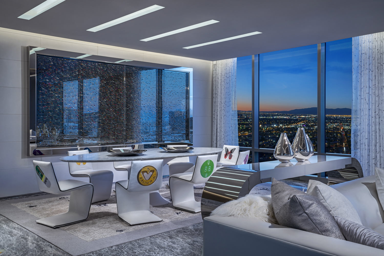 this 100000 a night vegas hotel suite is the worlds most expensive empathy designed by damien hirst dining room