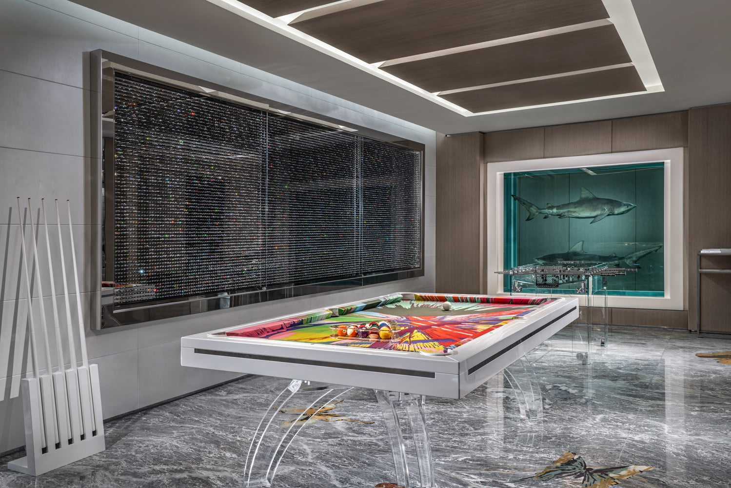 this 100000 a night vegas hotel suite is the worlds most expensive empathy designed by damien hirst game room