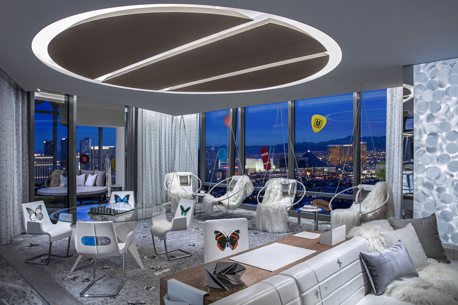 this 100000 a night vegas hotel suite is the worlds most expensive empathy designed by damien hirst living room  1