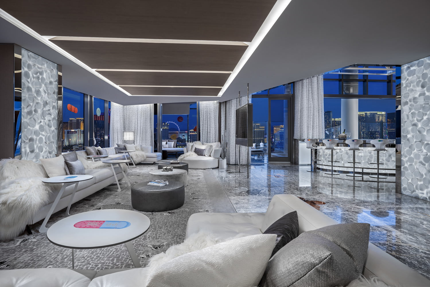 this 100000 a night vegas hotel suite is the worlds most expensive empathy designed by damien hirst living room