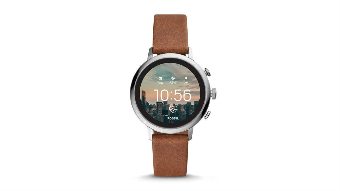 Fossil Q Venture HR in Brown Leather